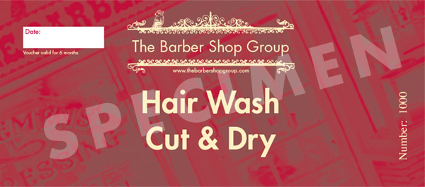 Hair Wash, Cut & Dry Gift Voucher