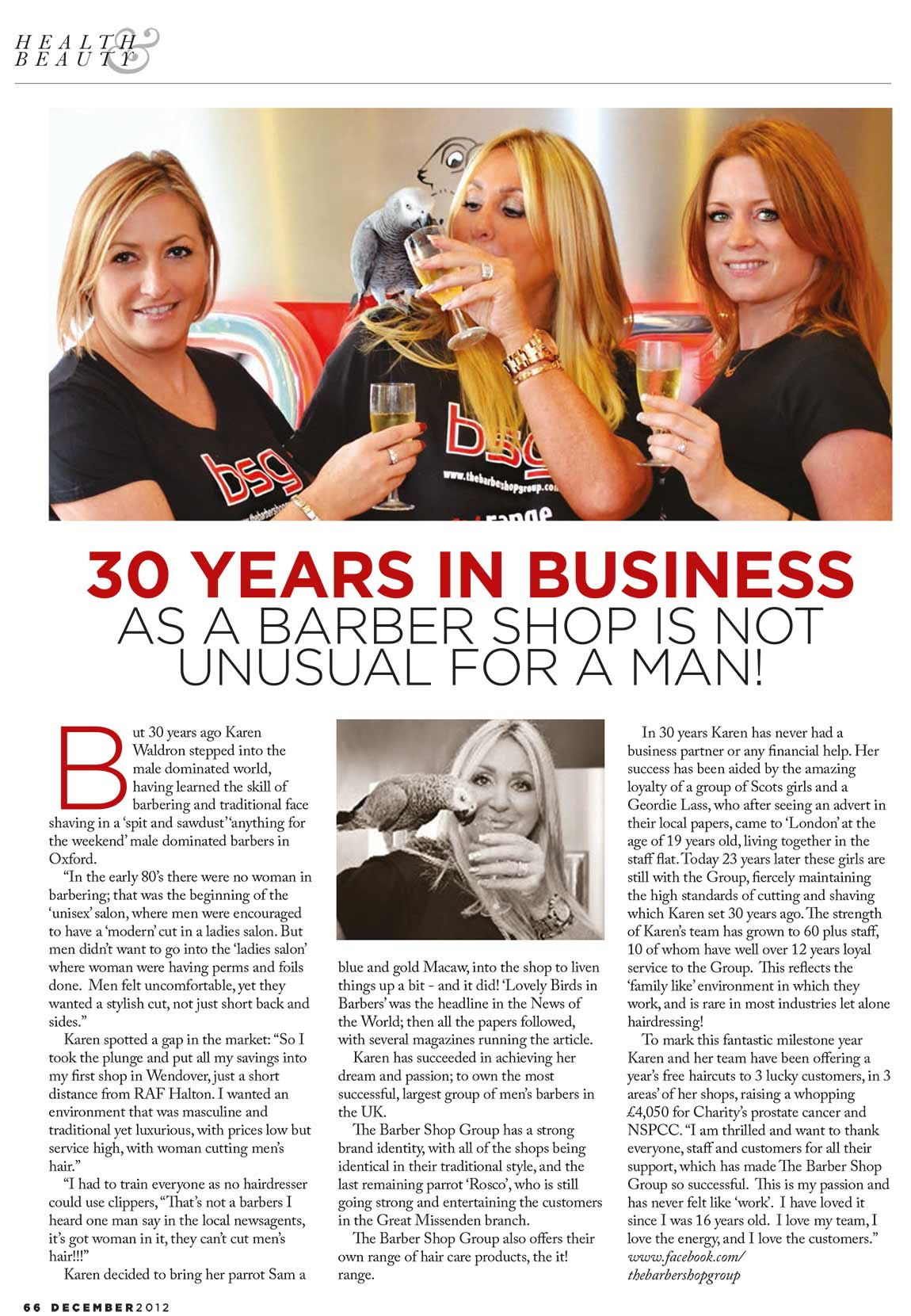 30 Year in Business Article