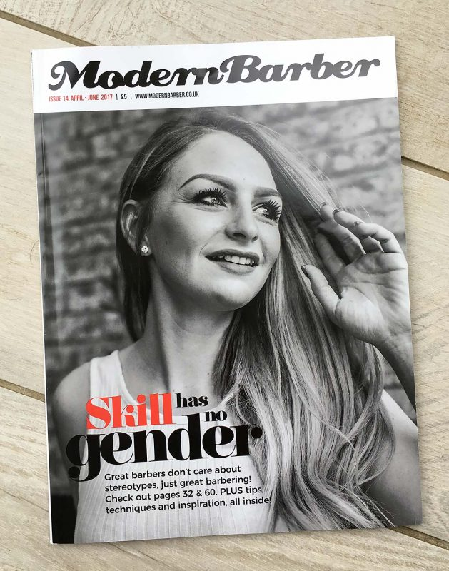 Modern Barber cover of the April-June 2017 Edition